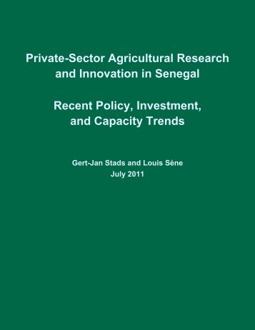 Private-Sector Agricultural Research and Innovation in ... - ASTI - cgiar