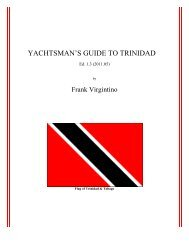 YACHTSMAN'S GUIDE TO TRINIDAD - Northern Lights Sailing Club