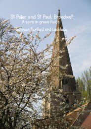 Download the Broadwell Church Guide - Oxfordshire Cotswolds