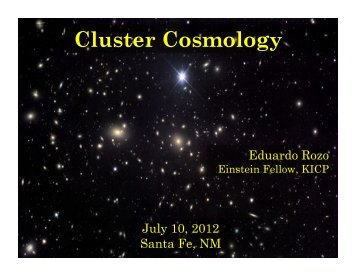 Cluster Cosmology - MCS