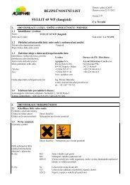 BEZPEČNOSTNÍ LIST SYLLIT 65 WP (fungicid) - VP Agro