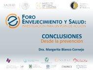 CONCLUSIONES Dra. Margarita Blanco Cornejo