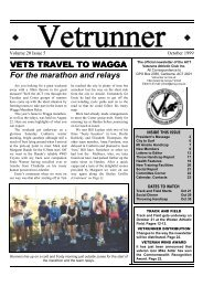VETS TRAVEL TO WAGGA For the marathon and relays