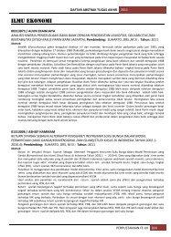 Indeks abstrak Tugas Akhir Ilmu Ekonomi - DIGITAL LIBRARY ...