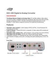 DAC-200 Digital-to-Analog Converter - Datavideo