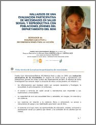 results of participative needs assessment - Family Care International