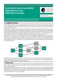 Evaluation massiv-paralleler Algorithmen zum HW/SW-Co-Design