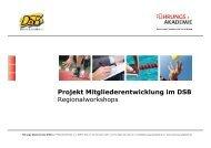 """Das Projekt """"Mitgliederentwicklung im DSB"""" - Ziel im Visier"""