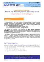 Mobilité Intelligente : - Atec/ITS France