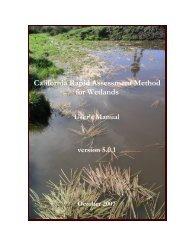 California Rapid Assessment Method for Wetlands - Cram