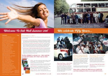 Summer brochure online - Oak Hall expeditions