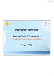 Energie Solaire Thermique Application aux ... - Réseau REG