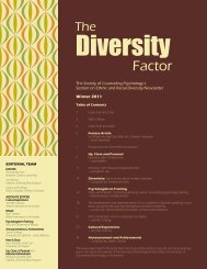2011 Winter Diversity Factor - Society of Counseling Psychology ...