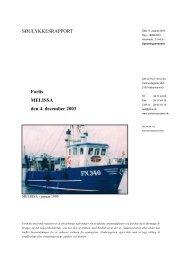MELISSA - forlis den 4. december 2003 - Søfartsstyrelsen