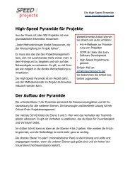 High-Speed Pyramide für Projekte Der Aufbau der ... - speed4projects