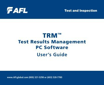 User Guide [PDF] - AFL