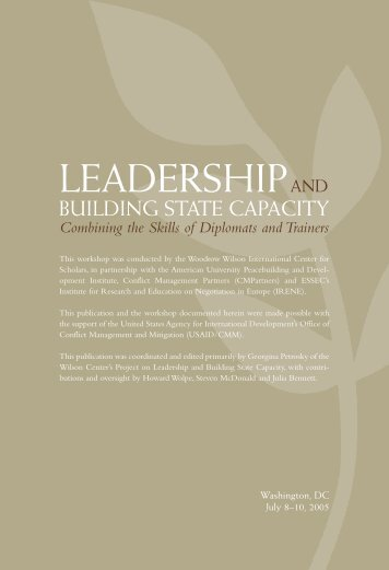 Leadership and Building State Capacity - Woodrow Wilson ...