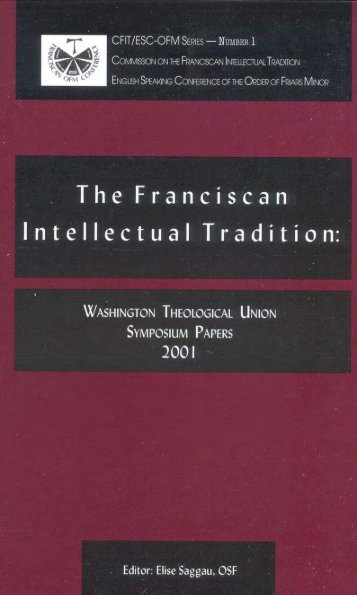 HERE - Franciscan Institute Publications