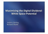 Maximising the Digital Dividend- W hite Space ... - Analysys Mason