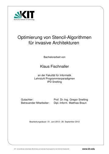 Optimierung von Stencil-Algorithmen für invasive ... - IPD Snelting