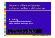 Structural difference between Structural difference between online ...