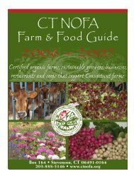 Farm and Food Guide 2006/2007 - CT NOFA is
