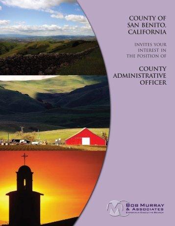 San Benito County Administrative Officer - Bob Murray & Associates