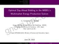 Optimal Day-Ahead Bidding in the MIBEL's ... - GNOM - UPC