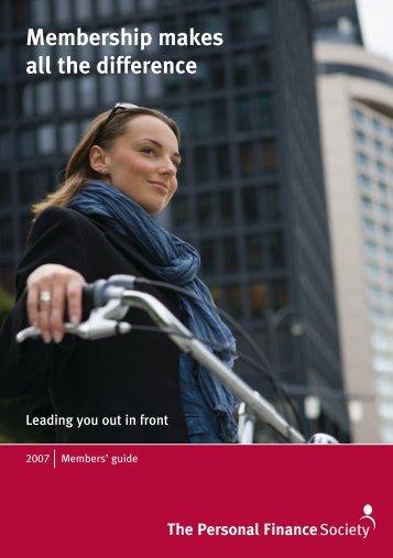 CII_2412-PFS Members Guide-V3 - The Personal Finance Society
