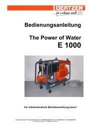 E 1000 - von Oertzen GmbH