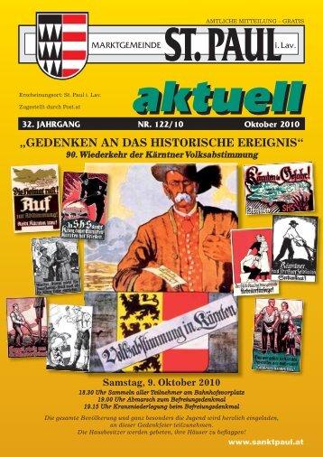 Gemeindezeitung Oktober 2010 - Marktgemeinde Sankt Paul im ...