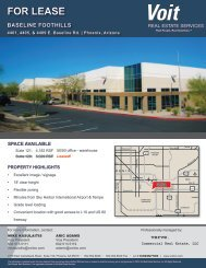 FOR LEASE - Voit Real Estate Services