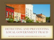 Finding and Preventing Fraud in Local Government - Charles Hall