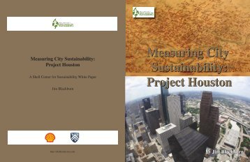 Measuring City Sustainability: Project Houston - Shell Center for ...
