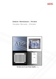 Filterkreisdrosseln - AEG Industrial Engineering