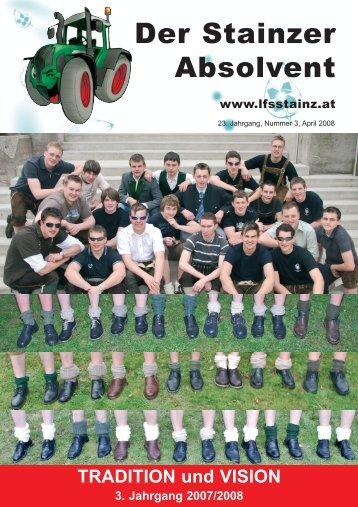 vorankündigung ! ! ! absolventenvereins- wandertag - LFS Stainz