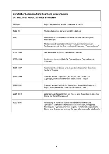 Curriculum und Weiterbildung Homepage - ZKJF Zentrum für Kind ...