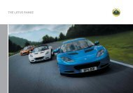 RANGE PLANNED.indd - Lotus Drivers Guide