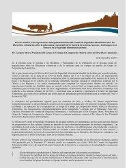 Proceso relativo a las negociaciones intergubernamentales ... - CSM