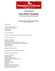 Grant Writer's Handbook - Government Training Inc.