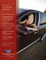 Personal Auto brochure - Western National Insurance Group