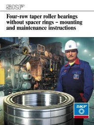 Four-row taper roller bearings without spacer rings – mounting and ...