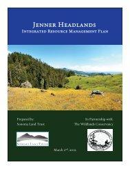 Jenner Headlands IRMP - Sonoma Land Trust