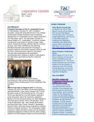 Legislative Update Vol 1. Issue 7 - FAU Foundation, Inc. - Florida ...