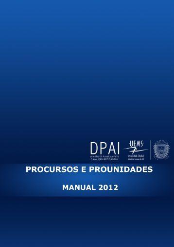 procursos e prounidades - Universidade Estadual de Mato Grosso ...