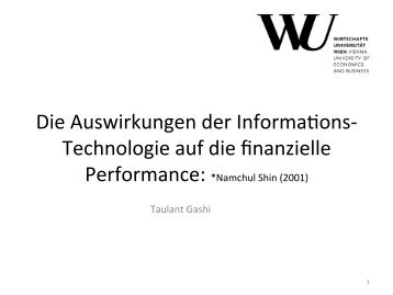 Impact of IT on Financial Performance