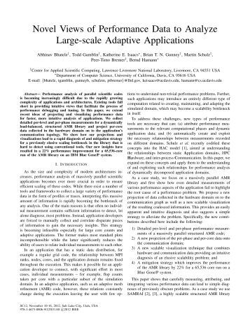 Novel Views of Performance Data to Analyze Large-scale Adaptive ...