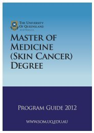 (Skin Cancer) Degree - School of Medicine - University of Queensland