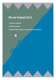 Pla de Treball 2012 - Ajuntament de Barcelona