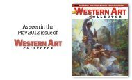 As seen in the May 2012 issue of - Western Art Collector